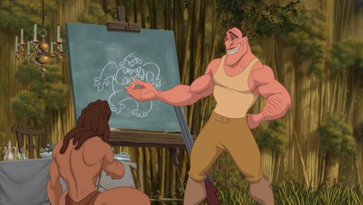 Clayton draws gorilla